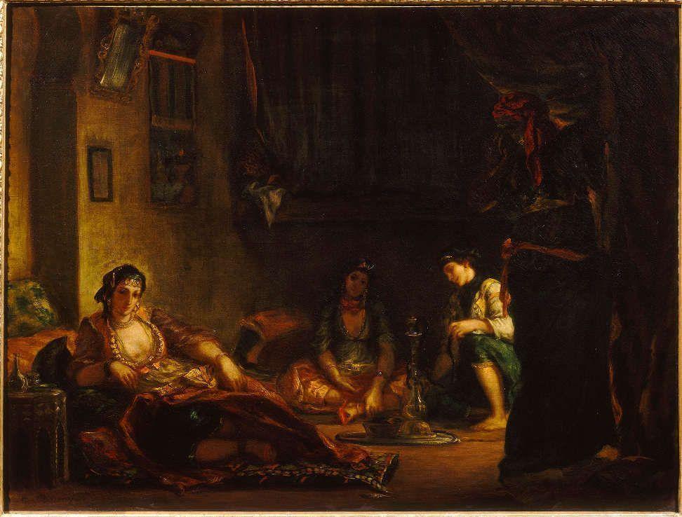 Eugène Delacroix, Frauen von Algier in ihren Gemächern, 1847-1849, Öl/Lw, 85 x 112 cm (Musée Fabre, Montpellier (868.1.38) © Musee Fabre, Montpellier Agglomeration)