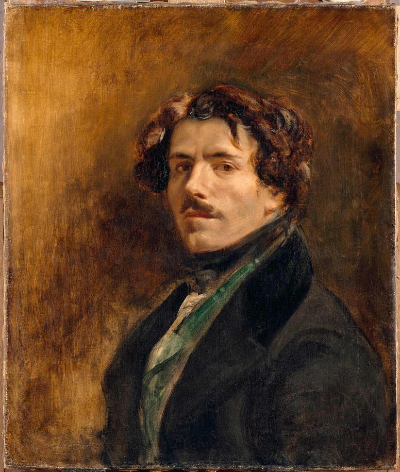 Eugène Delacroix, Selbstporträt, um 1837, Öl auf Leinwand, 65 x 54.5 cm (Musée du Louvre, Paris (RF 25) © RMN-Grand Palais (musée du Louvre) / Jean-Gilles Berizzi)