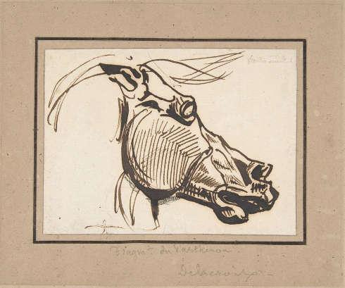 Eugène Delacroix, Skizze nach einem Pferdekopf vom Pantheon (The Metropolitan Museum of Art)