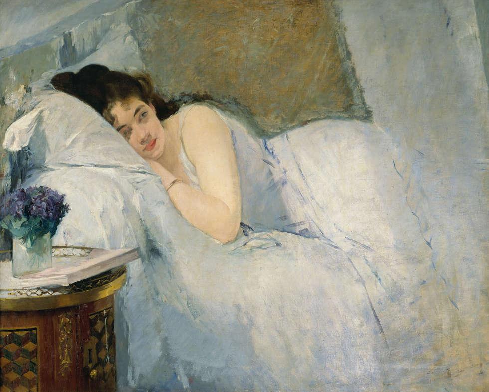 Eva Gonzalès, Erwachendes Mädchen, um 1877/78, 81,1 x 100,1 cm (Kunsthalle Bremen – Der Kunstverein in Bremen)