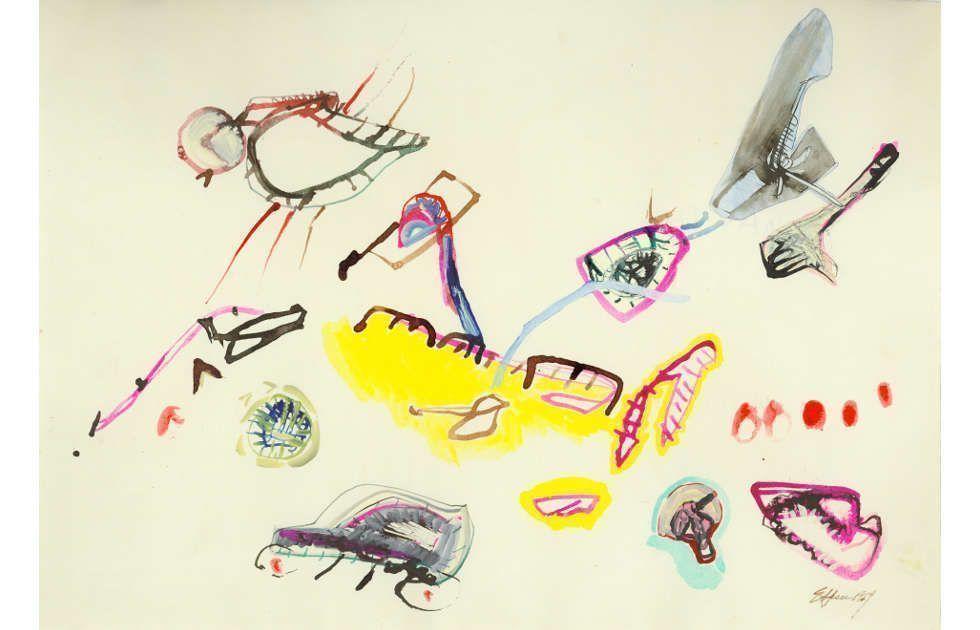Eva Hesse, No title, 1964 (Gift of Helen Hesse Charash, 1983.106.1 © The Estate of Eva Hesse. Courtesy Hauser & Wirth)