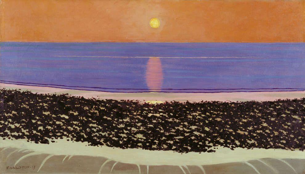 Félix Vallotton, Coucher de soleil, Villerville, 1917, Öl/Lw, 55,5 x 97 cm (Kunsthaus Zürich, Vereinigung Zürcher Kunstfreunde, 1977)