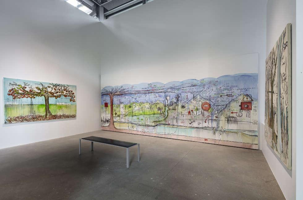 Fabrice Hyber, Installationsansicht der-Fondation Cartier, Nous, Les Arbres 2019, Foto: Luc Boegly