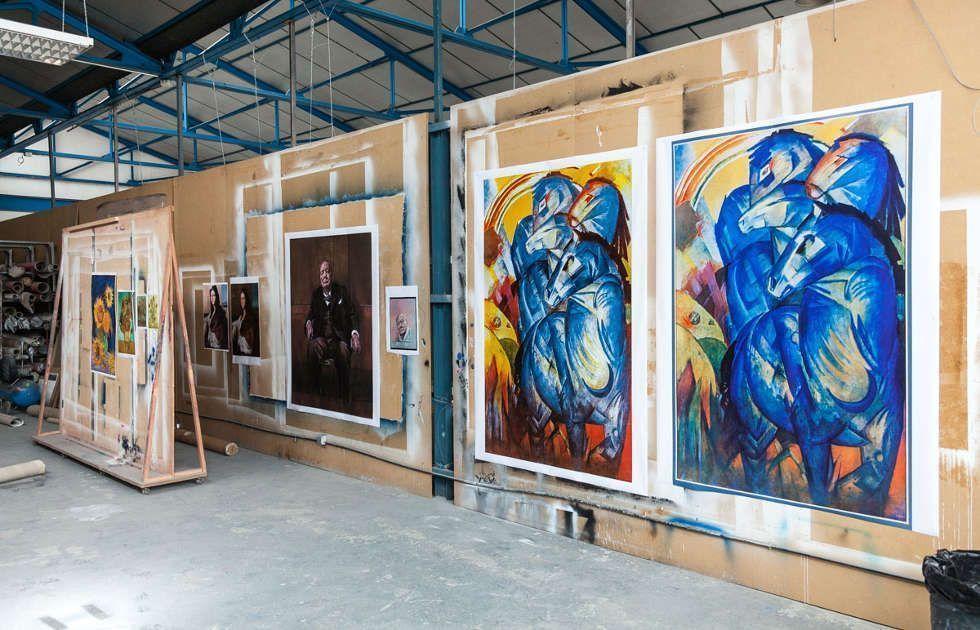 Factum Arte Atelier, Verschiedene Versionen von Franz Marcs Turm der blauen Pferde © Factum Arte