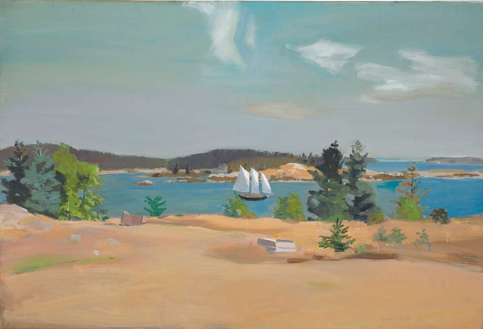 Fairfield Porter (1907–1975), The Schooner II (1965), Öl/Lw, 94.2 x 137.5 cm (Privatsammlung)