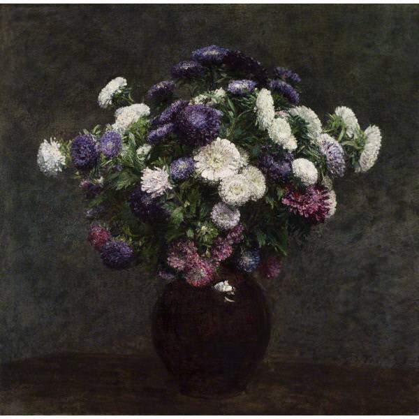 Henri Fantin-Latour, Astern in einer Vase, 1875, Öl auf Leinwand, 58.1 x 59.1 cm (Saint Louis Art Museum, Museum Purchase)