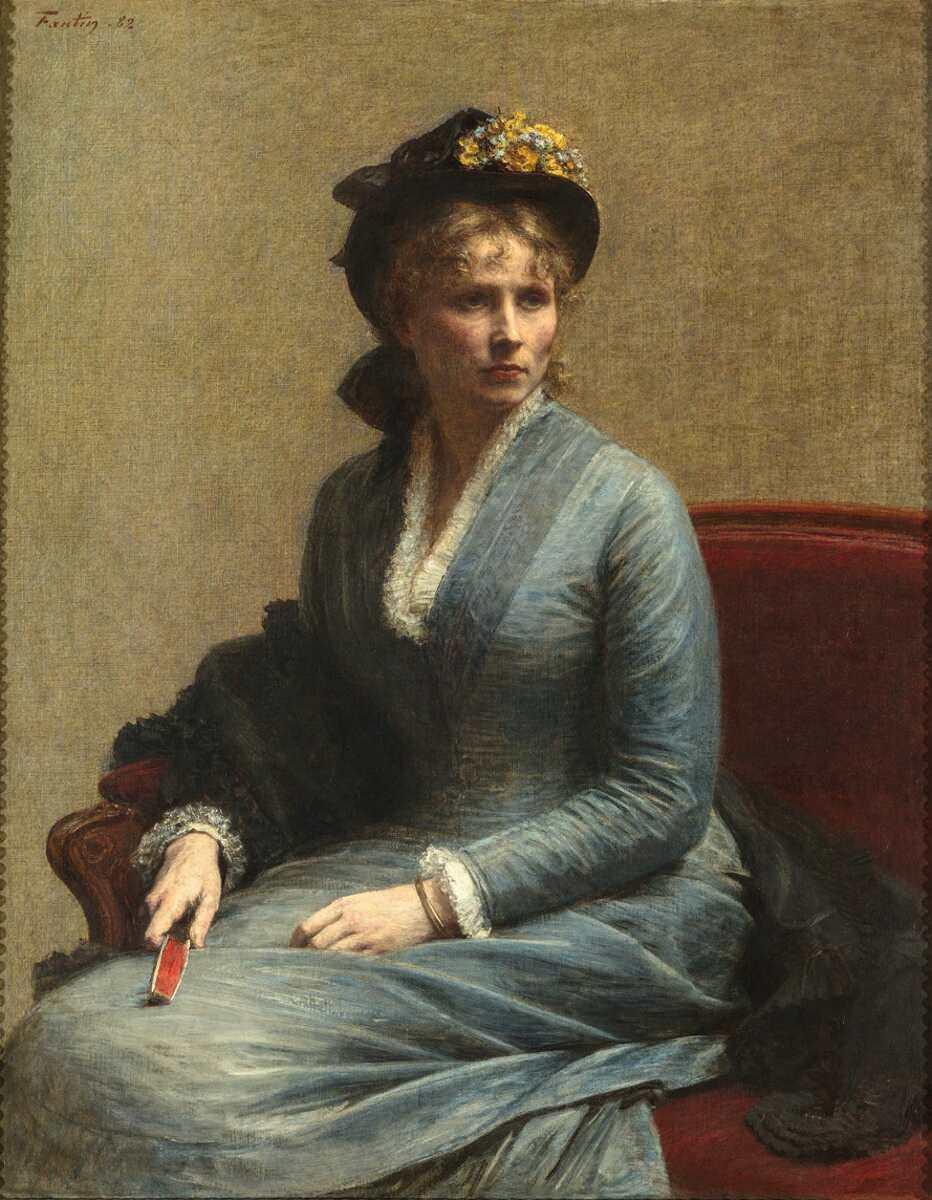Henri Fantin-Latour, Charlotte Dubourg, 1882, Öl auf Leinwand, 118 x 92,5 cm (Paris, Musée d'Orsay © Musée d'Orsay, Dist. Rmn-Grand Palais / Photo Patrice Schmidt)