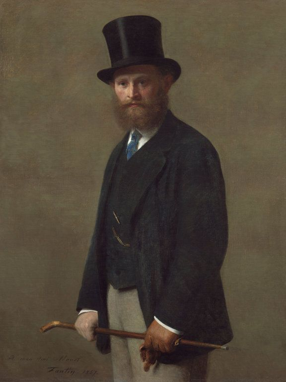 Henri Fantin-Latour, Edouard Manet, 1867, Öl auf Leinwand, 117.5 x 90 cm (The Art Institute of Chicago, Stickney Fund, 1905.207)