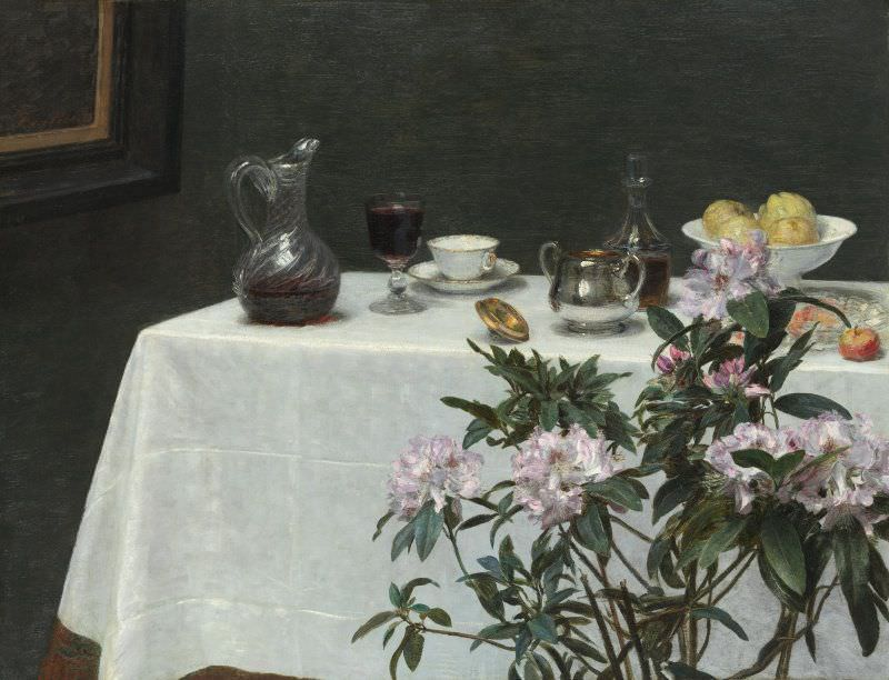 Henri Fantin-Latour, Coin de table [Stillleben, Tischkante], 1873, Öl auf Leinwand, 96,4 x 125 cm (Chicago, The Art Institute, Ada Turnbull Hertle Endowment, 1951.226 (FL 671))