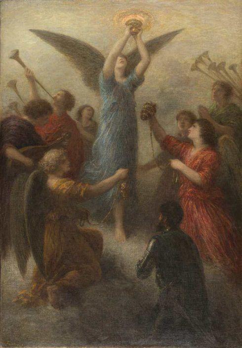 Henri Fantin-Latour, Vorspiel zu Lohengrin, 1892, Öl auf Leinwand, 102 x 71,5 cm (© Privatsammlung)