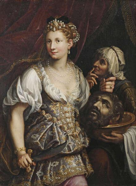 Fede Galizia, Judith mit dem Haupt des Holofernes, 1601, Öl/Lw, 123 x 92 cm (Ministero per i Beni e le Attività culturali e per il Turismo – Galleria Borghese)
