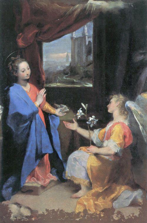 Federico Barocci, Verkündigung, 1582–1584, Öl/Holz/Lw, 248 x 170 cm (Pinacoteca Vaticana, Rom)