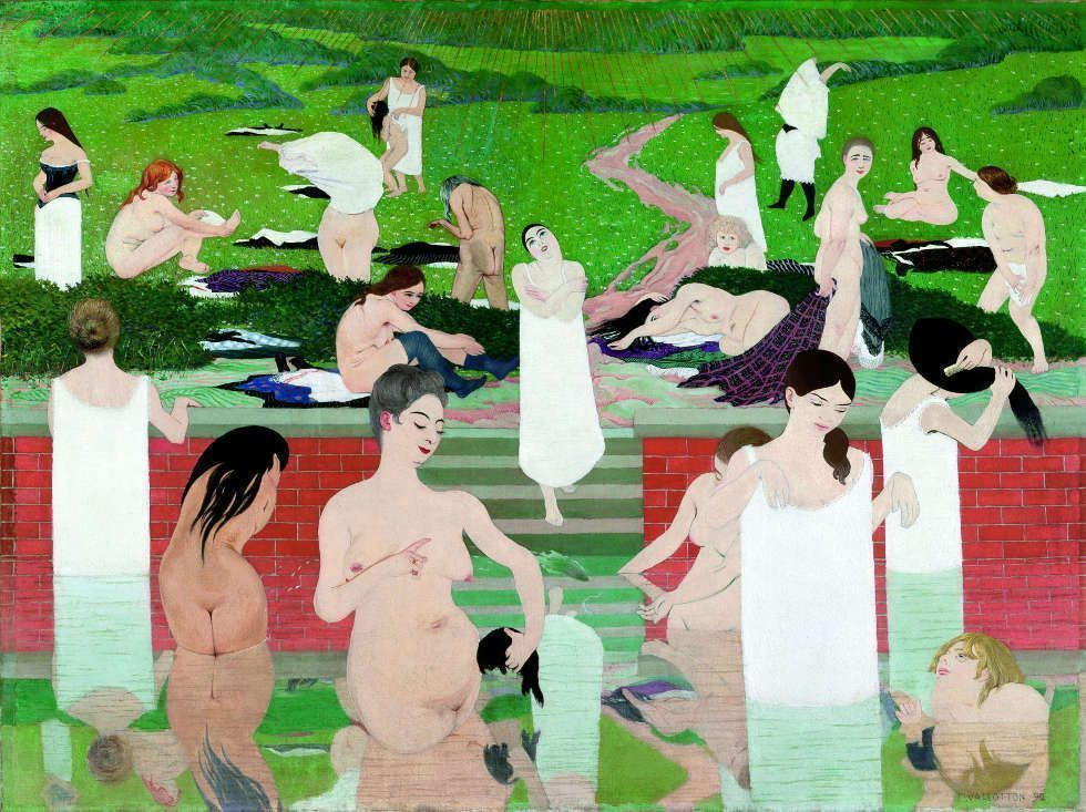 Félix Vallotton, Baden an einem Sommerabend, 1892/93, Öl/Lw, 97 x 131 cm (Kunsthaus Zürich, Gottfried Keller Foundation, Federal Office of Culture, Bern, 1965)