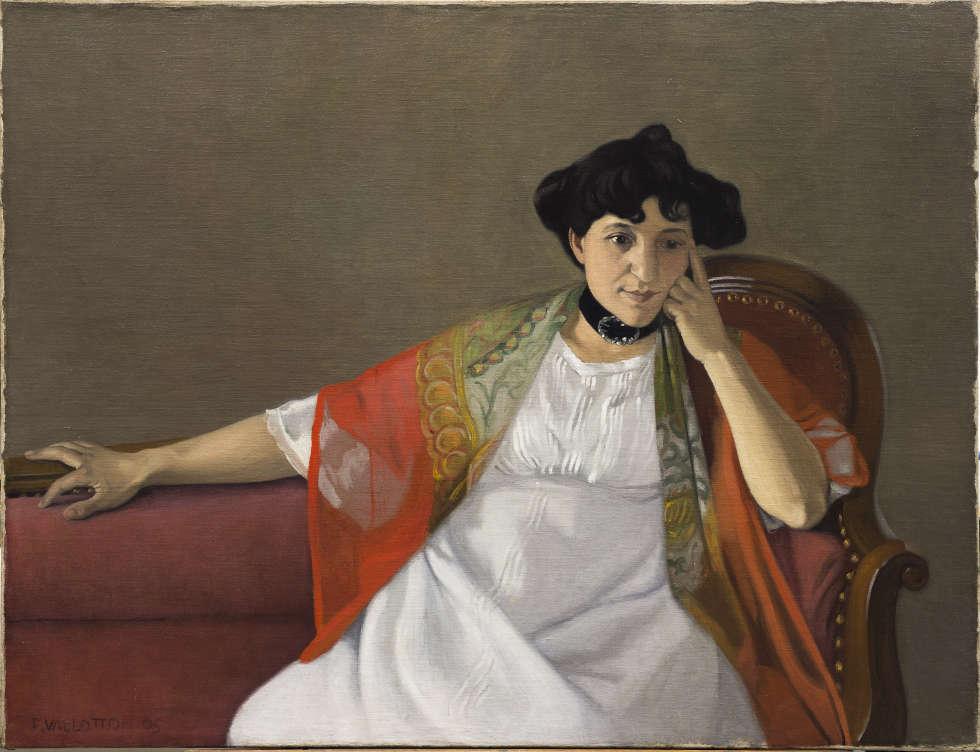 Félix Vallotton, Gabrielle Vallotton, 1905, Öl/Lw, 89 x 116.5 cm (Musée des Beaux-Arts, Bordeaux. Photo © Mairie de Bordeaux. Photography: F. Devel)