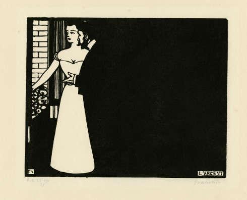 Félix Vallotton, Intimitäten V: Das Geld, 1898, Holzschnitt, 25 x 32.3 cm (Ville de Genéve, Musées d'art et d'histoire, Don Lucien Archinard)