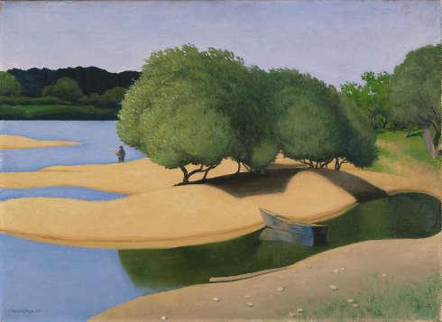Félix Vallotton, Sandbänke an der Loire, 1923, Öl/Lw, 73 x 100 cm (Kunsthaus Zürich. Acquired 1938. © Kunsthaus Zürich)