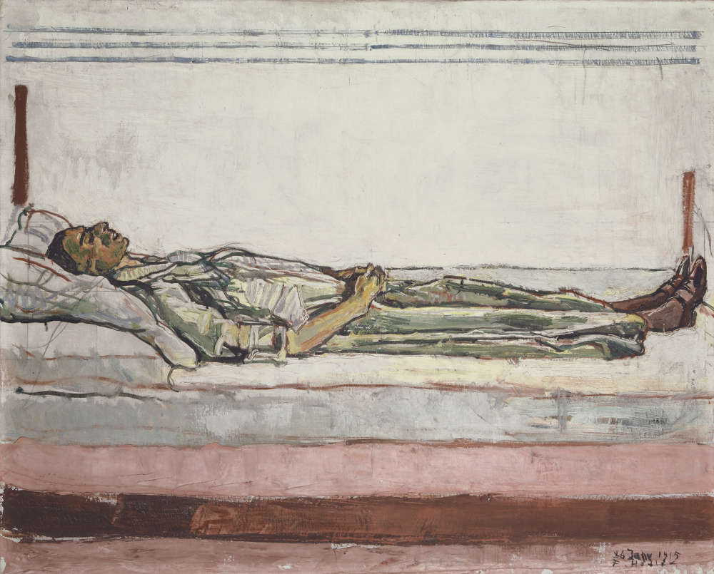 Ferdinand Hodler, Bildnis der toten Valentine Godé-Darel, 26.01.1915 (© Sammlung Rudolf Staechelin, Foto: Sammlung Rudolf Staechelin/Martin P. Bühler)