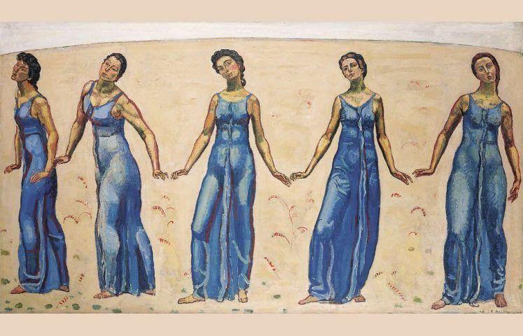 Ferdinand Hodler, Blick ins Unendliche, 1913–1916, Öl auf Leinwand, 138 x 245 cm (Kunst Museum Winterthur, Geschenk des Galerievereins 1923)