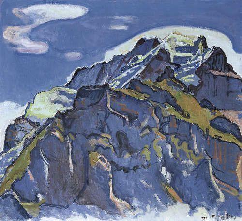 Ferdinand Hodler, Das Jungfraumassiv von Mürren aus, 1911 (© Privatbesitz (Schweiz), Foto: Lucian Hunziker)