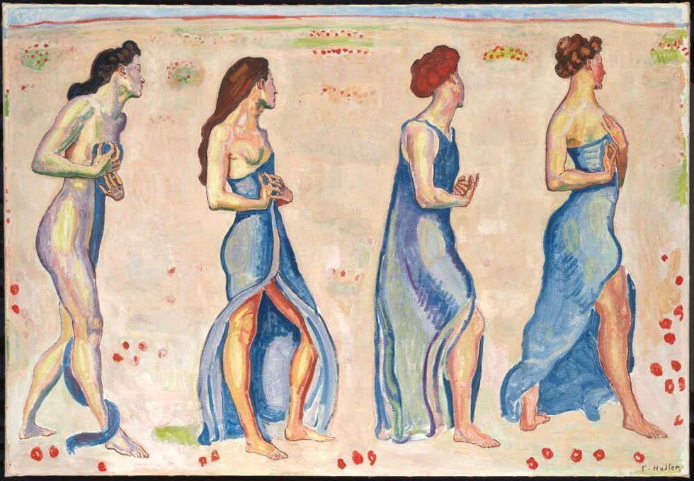 Ferdinand Hodler, Empfindung, 1909/1910, Öl auf Leinwand, 121 X 175,5 cm (Stiftung für Kunst, Kultur und Geschichte, Winterthur, Foto: SIK-ISEA, Zürich (Philipp Hitz)