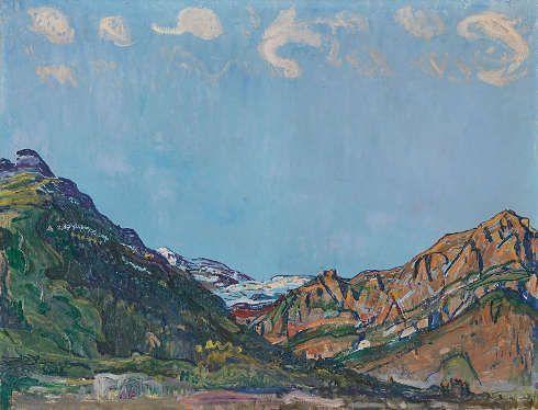 Ferdinand Hodler, Landschaft bei Champéry, um 1912/1916, Öl auf Leinwand, 60,5 x 79 cm (Kunst Museum Winterthur, Stiftung Oskar Reinhart)