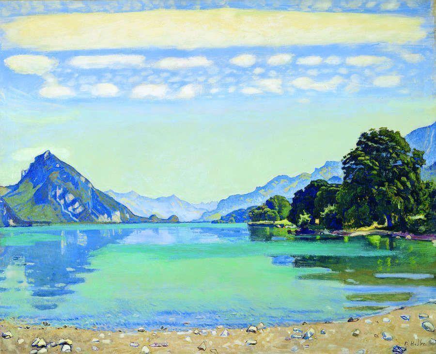 Ferdinand Hodler, Thunersee von Leissigen aus, 1904, Öl/Lw (© Kunstmuseum Bern)