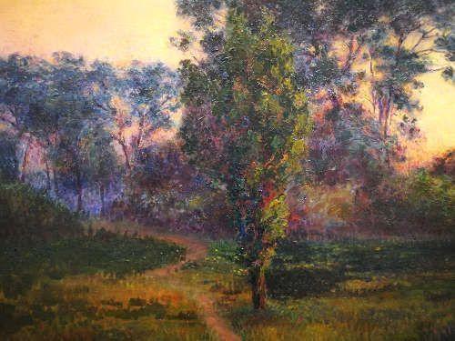 Ferdo Kovačević, Windstille, Detail, 1903 (Sammlung Vugrinec, Varaždin), Foto: Alexandra Matzner, ARTinWORDS.