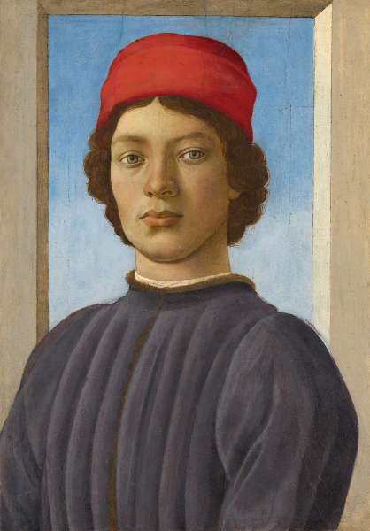Filippino Lippi, Bildnis eines jungen Mannes, um 1480/85, Holz, 52,1 x 36,5 cm (Washington, National Gallery of Art, Andrew W. Mellon Collection © Courtesy National Gallery of Art, Washington, Andrew W. Mellon Collection)