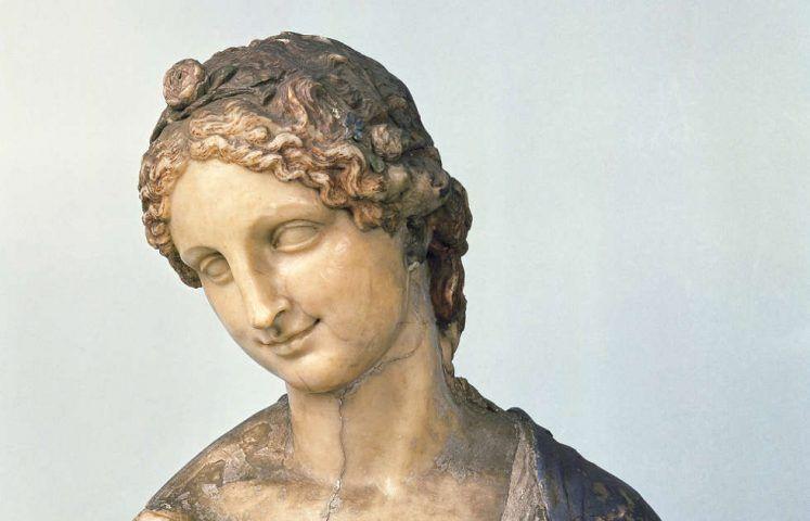 In der Art des Leonardo da Vinci, Flora-Büste, Detail, 16. oder 19. Jh. (© Staatliche Museen zu Berlin, Skulpturensammlung und Museum für Byzantinische Kunst / Jörg P. Anders)