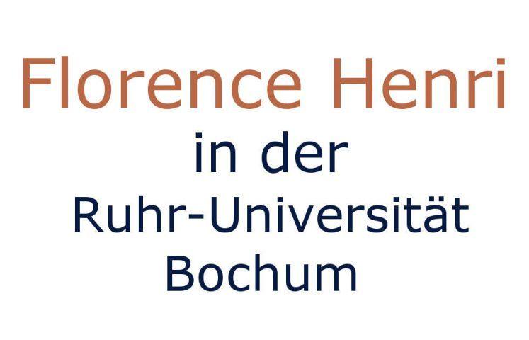 Florence Henri in Bochum