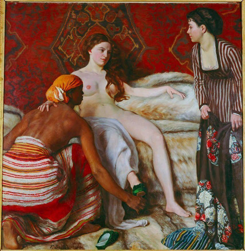 Frédéric Bazille, La Toilette [Die Toilette], 1870, Öl auf Leinwand / Oil on canvas, 130 x 128 cm, Musée Fabre, Montpellier Agglomération (18.1.2) © RMN-Grand Palais / Agence Bulloz.