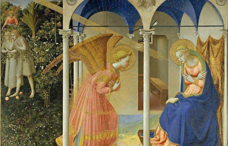 Fra Angelico, Die Verkündigung, Detail, 1426, Öl/Holz, 194 x 194 cm (Madrid, Museo Nacional del Prado)
