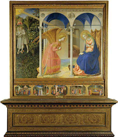 Fra Angelico, Die Verkündigung, 1426, Öl/Holz, 194 x 194 cm (Madrid, Museo Nacional del Prado)
