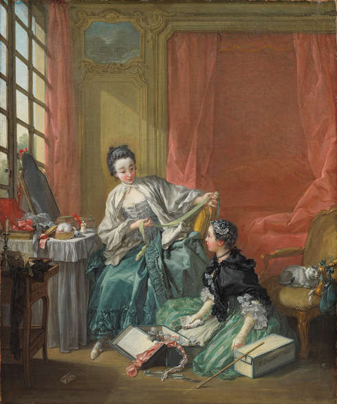 François Boucher, Die Modistin (Der Morgen), 1746 (Nationalmuseum Stockholm, Foto: Cecilia Heisser)