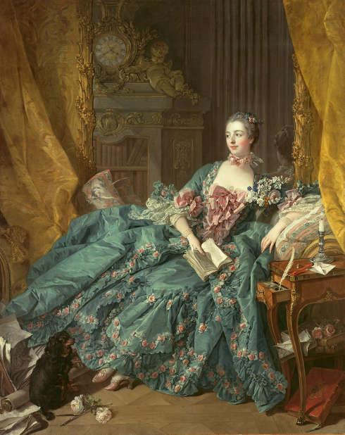 François Boucher, Madame de Pompadour, 1756 (Bayerische Staatsgemäldesammlungen, Alte Pinakothek, München. Dauerleihgabe der Sammlung HypoVereinbank, Member of UniCredit)