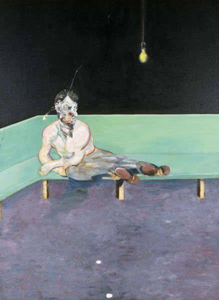 Francis Bacon, Studie für ein Porträt von Lucian Freud, 1964, Öl/Lw, 198 x 147,6 cm (The Lewis Collection © The Estate of Francis Bacon. All rights reserved. DACS, London, Foto: Prudence Cuming Associates Ltd.)