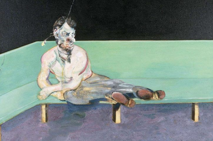 Francis Bacon, Studie für ein Porträt von Lucian Freud, Detail, 1964, Öl/Lw, 198 x 147,6 cm (The Lewis Collection © The Estate of Francis Bacon. All rights reserved. DACS, London, Foto: Prudence Cuming Associates Ltd.)