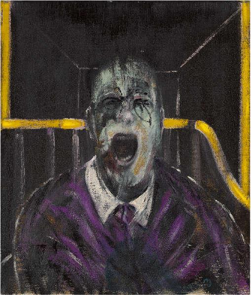 Francis Bacon, Studie für einen Kopf, 1952, Öl-Lw, 66 x 56 cm (Privatbesitz)