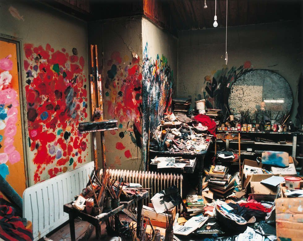 Francis Bacon's 7 Reece Mews studio, London, 1998, Foto von Perry Ogden (© The Estate of Francis Bacon. All rights reserved / 2018, ProLitteris, Zurich)