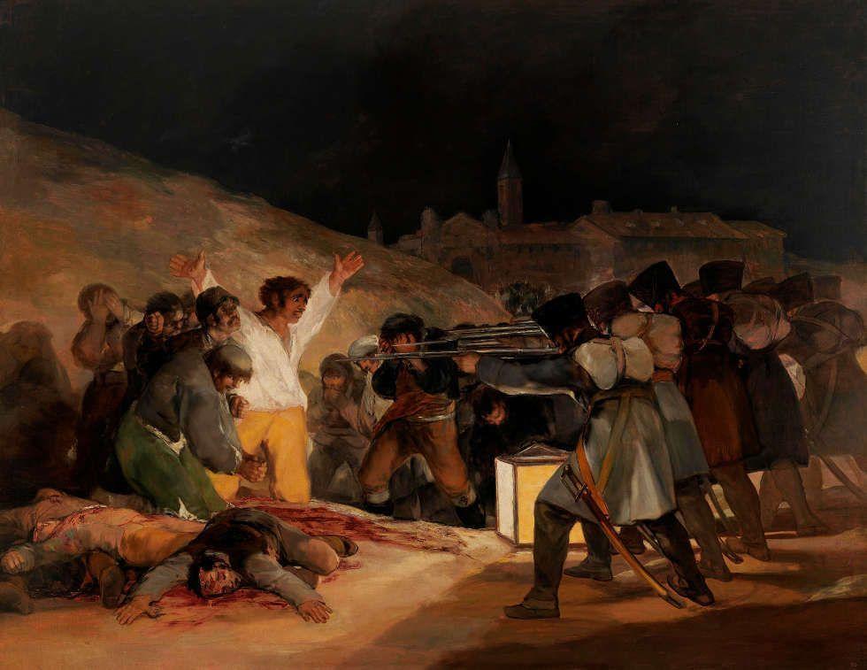 Francisco de Goya, Der 3. Mai, 1814, Öl/Lw, 268 x 347 cm (Madrid, Museo Nacional del Prado)