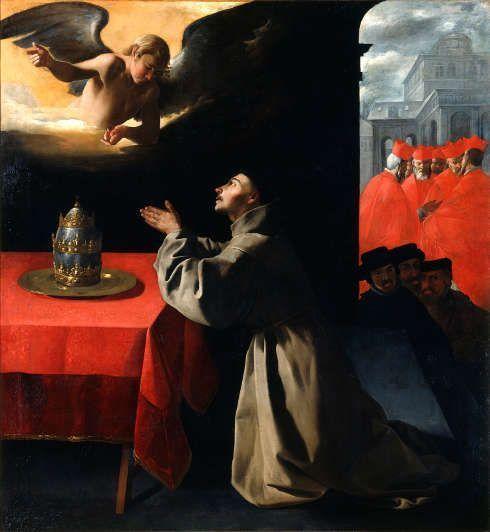 Francisco de Zurbarán, Gebet des Heiligen Bonaventura, 1628/29, Öl/Lw (© Gemäldegalerie Alte Meister, Staatliche Kunstsammlungen Dresden, Foto: Estel/Klut)