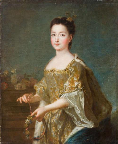 Francois de Troy (?) (Toulouse 1645–1730 Paris), Porträt von Teresa Kunegunda Sobieska, um 1694 (?), Öl auf Leinwand, 81 × 64,5 cm (Lemberg, Borys Voznytsky National, Art Gallery of Lviv)