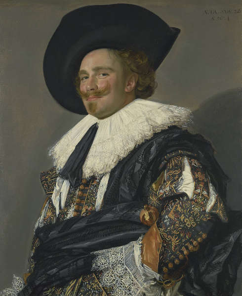 Frans Hals, Der lachende Kavalier, 1624 (The Trustees of the Wallace Collection, London)