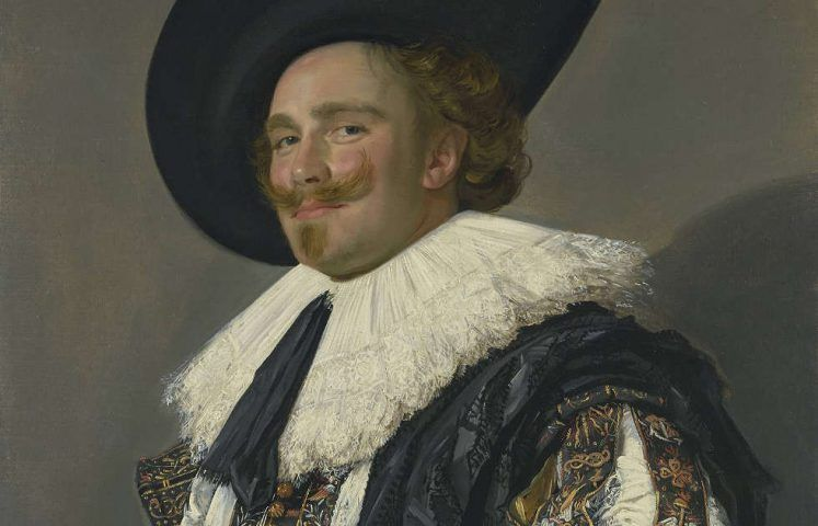 Frans Hals, Der lachende Kavalier, Detail, 1624 (The Trustees of the Wallace Collection, London)