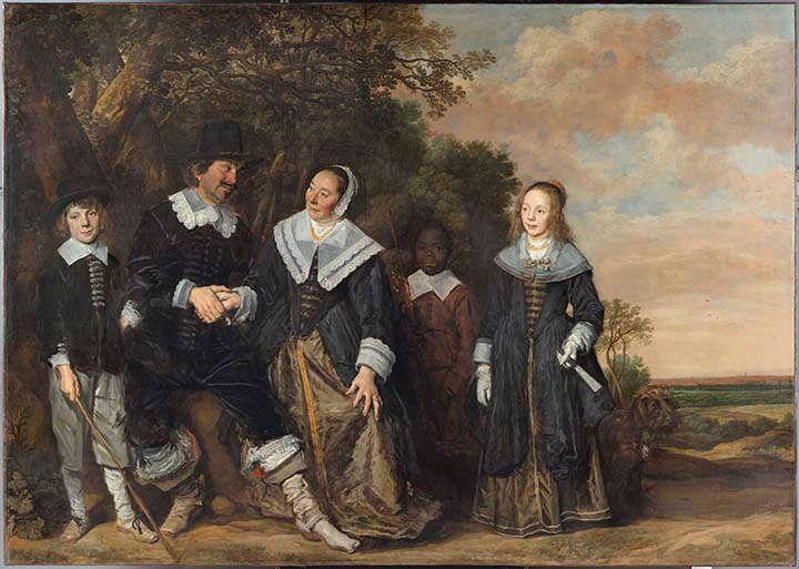 Frans Hals, Familienporträt in einer Landschaft, um 1645–1648, Öl/Lw, 202 x 285 cm (Museo Thyssen-Bornemisza, Madrid, inv. 1934.8. ©Museo Thyssen-Bornemisza, Madrid)