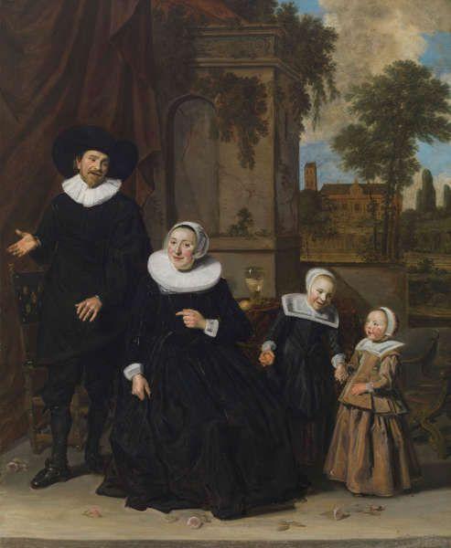 Frans Hals, Porträt einer niederländischen Familie, Mitte 1630er, Öl/Lw, 111.8 x 89.9 cm (Cincinnati Art Museum, Cincinnati (Ohio), inv. 1927.399)