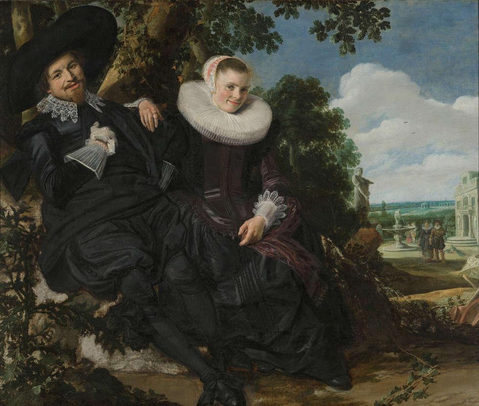 Frans Hals, Porträt eines Paares, vielleicht Isaac Abrahamsz Massa und Beatrix van der Laen, um 1622, Öl/Lw, 140 x 166,5 cm (Rijksmuseum, Amsterdam)