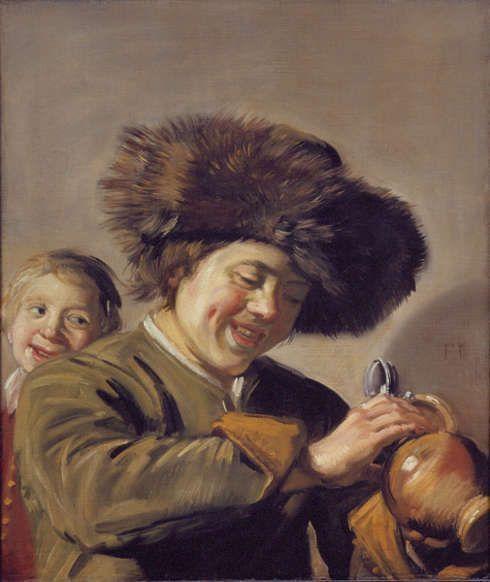 Frans Hals, Zwei lachende Knaben mit einem Krug Bier, um 1628, Öl/Lw, 68 x 56,5 cm (Hofje van Aerden, Leerdam)