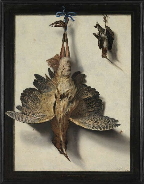 Frans van Cuyck de Myerhop, Stillleben mit Vögeln, um 1670, 120 x 93 cm, Öl/Leinwand (Musea Brugge © www.lukasweb.be – Art in Flanders vzw, Foto: Hugo Maertens)