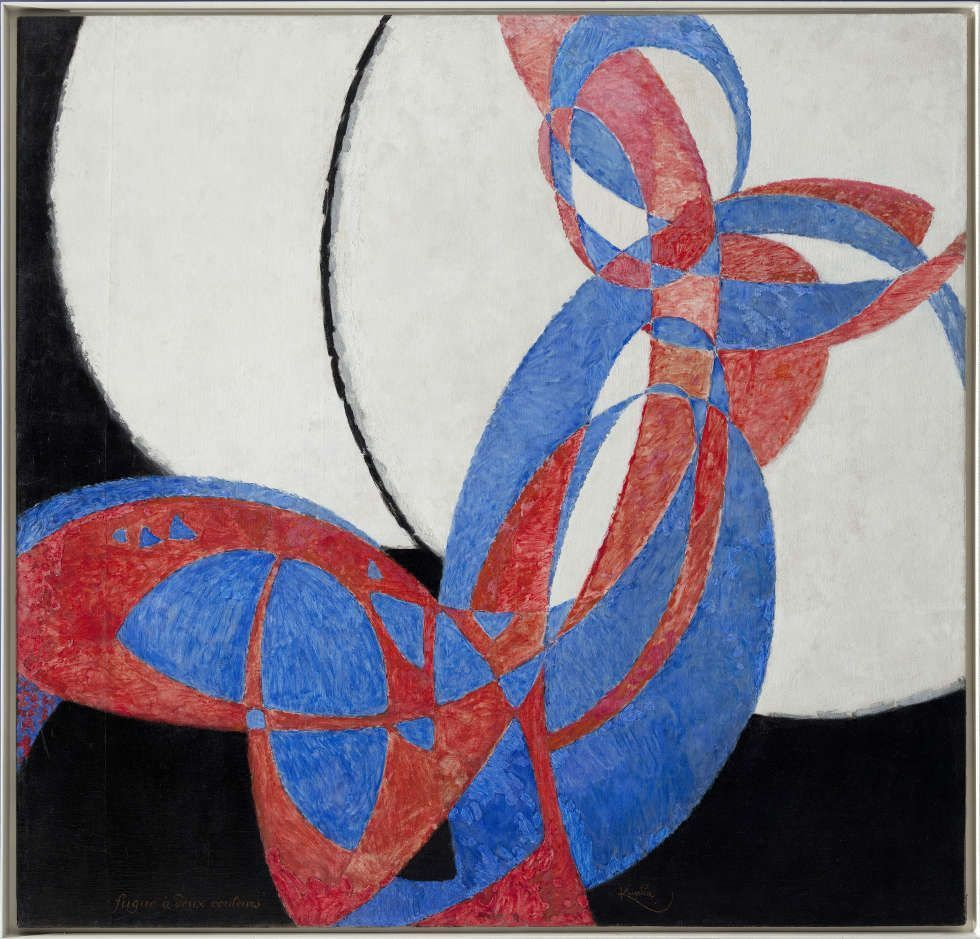 Frantisek Kupka, Amorfa, Fuge in zwei Farben, 1912, Öl/Lw, (Nationalgalerie Prag, Prag)
